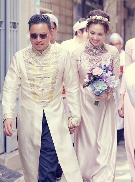 Các mẫu áo dài cưới dành cho chú rể