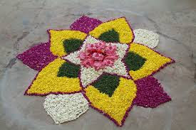How To Make Flower Rangoli