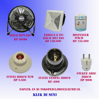 Sekai,broco,kipas angin,exhaus fan dispenser,fitting