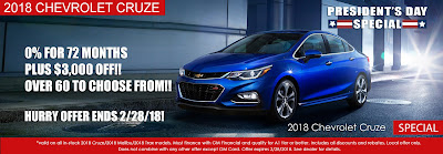 Emich Chevrolet President's Day Special