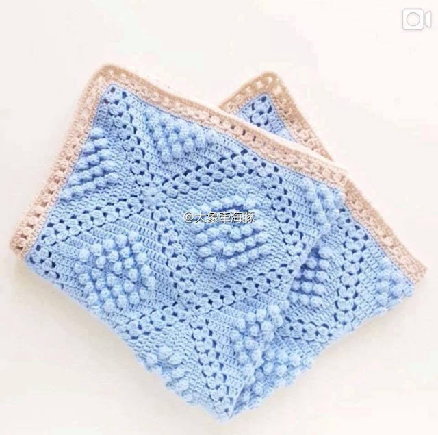 Patrón #1550:Manta a Crochet