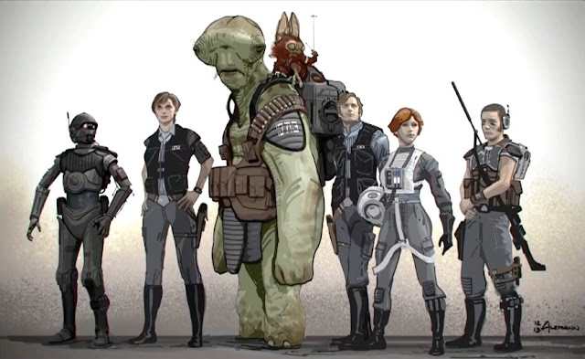 rogue one concept art star wars senna and lunka