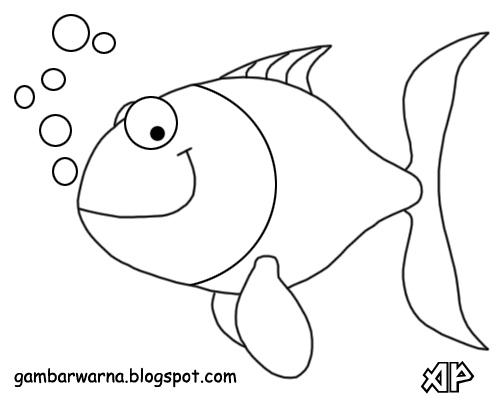 Yang Bisa Kalian Warnai Silahkan Download Gambarnya Dan Warnailah Dengan Sedikit Berkreasi Agar Ikan Tampak Terlihat Lebih Menarik Selamat Mewarnai