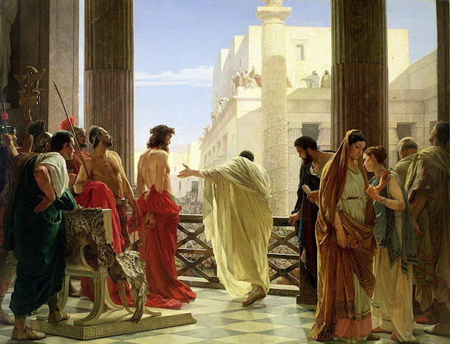 """Behold the Man"" - Antonio Ciseri (1821 – 1891) - Pilate presenting a scourged Jesus to the people of Jerusalem"
