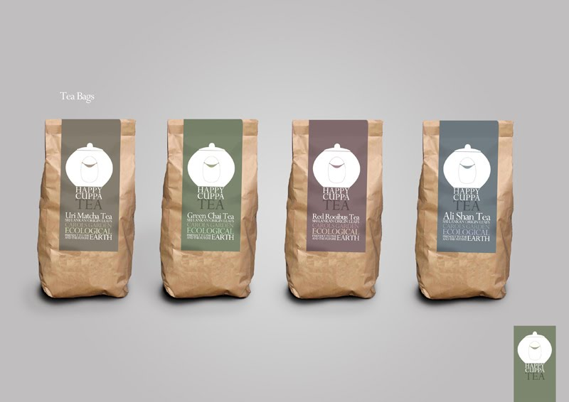 dubrehed design happy cuppa tea package design