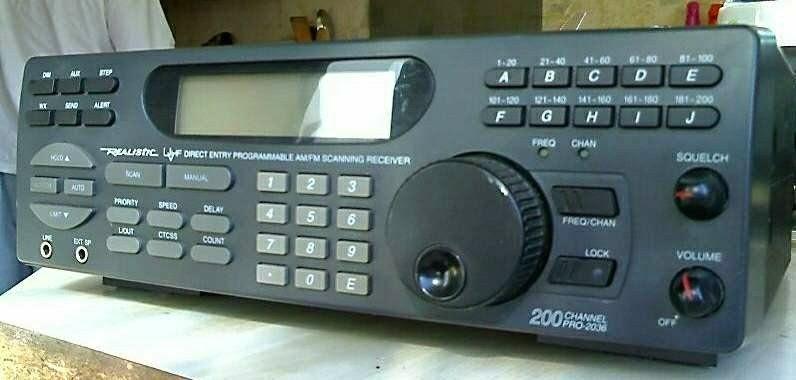 Radio shack scanner pro 2036 manual