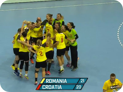 Scor final Romania 21 - Croatia 20