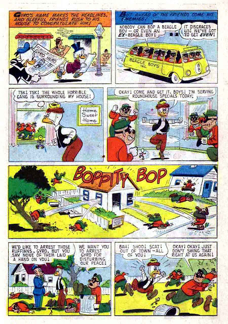 Gyro Gearloose / Four Color Comics #1184 dell silver age 1960s comic book page art by Carl Barks