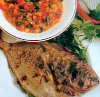 Masakan olahan ikan bawal yummy dan sederhana berikut yaitu resep masakan ikan bawal yang RESEP IKAN BAWAL SAMBAL DABU-DABU