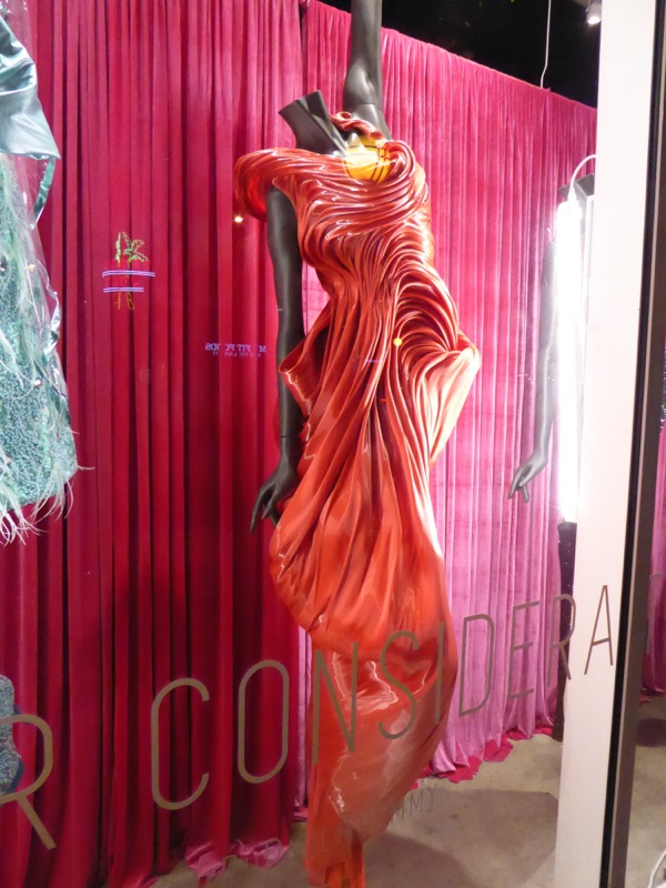 RuPaul's Drag Race sculpted red gown