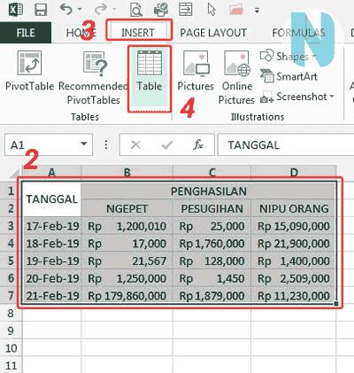 gbr.2 Cara Membuat Tabel Microsoft Excel Nandur93
