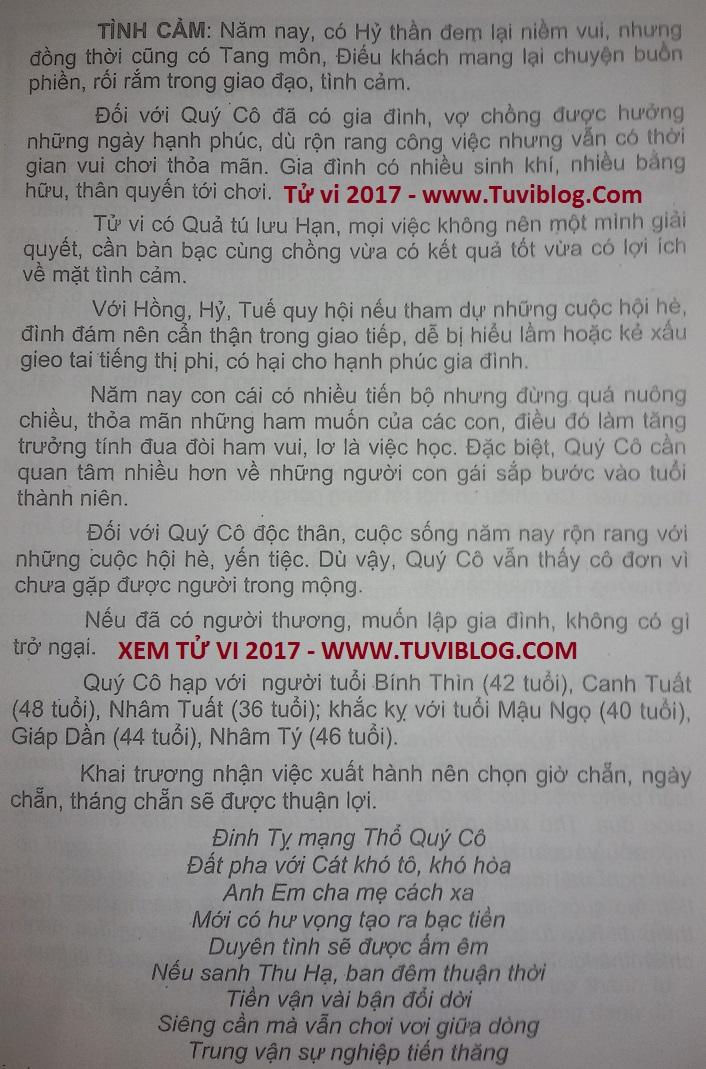 Tuoi Dinh Ty nu nam 2017