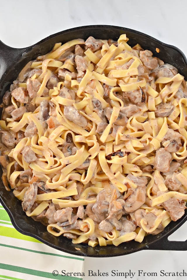 Beef Stroganoff Recipe From Serena Bakes Simply From Scratch.