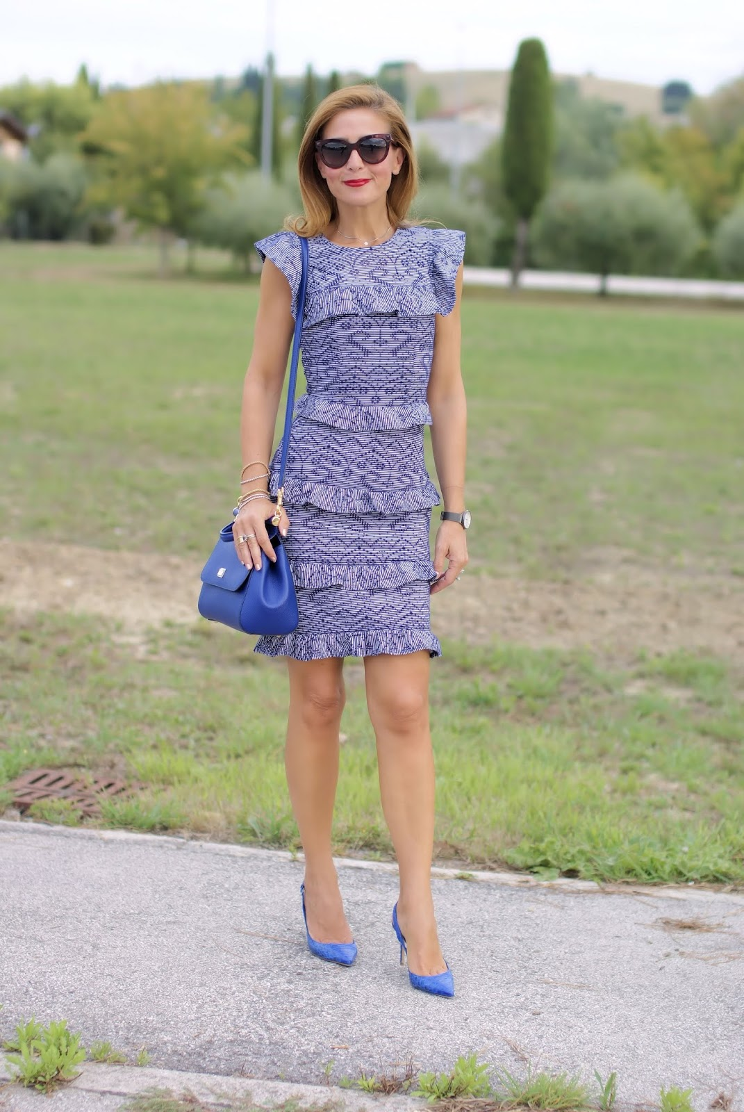 ruffled elegant dress on Fashion and Cookies fashion blog, fashion blogger style