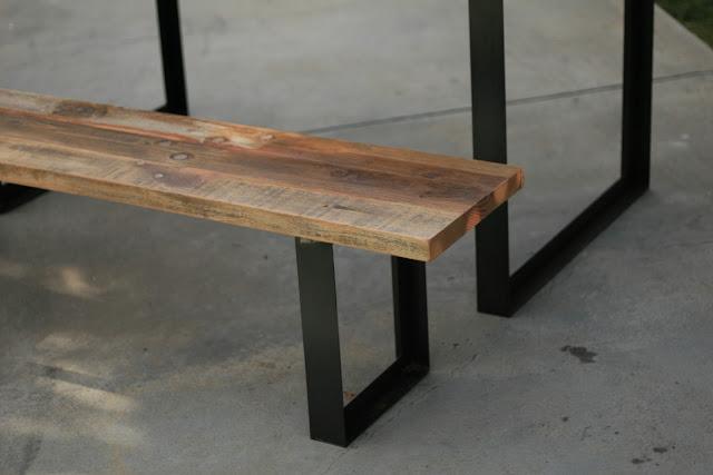 Wood Bench Metal Legs Pdf Woodworking