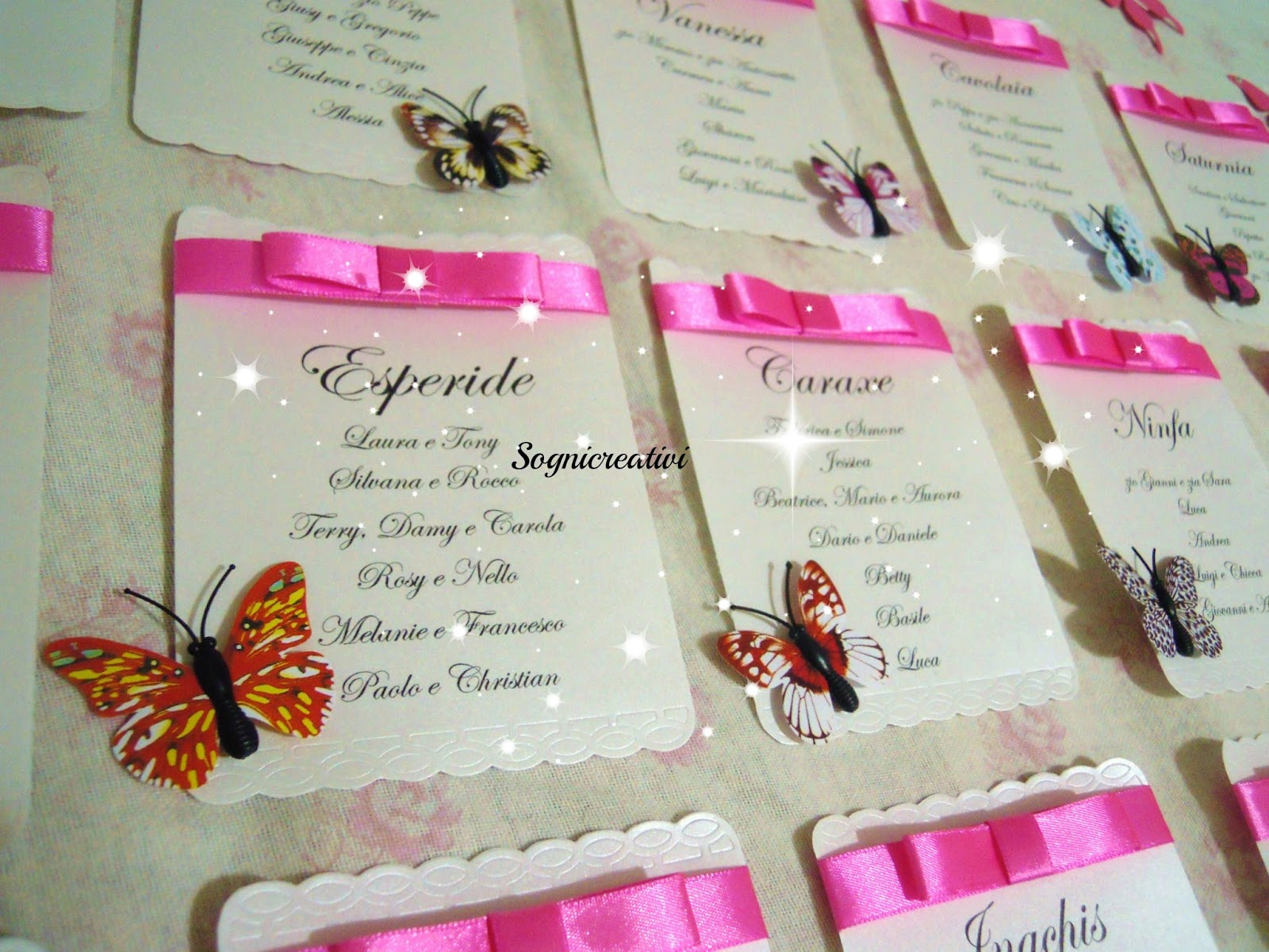 Famoso Partecipazioni Sognicreativi Wedding and Events: Cartellini  WI03