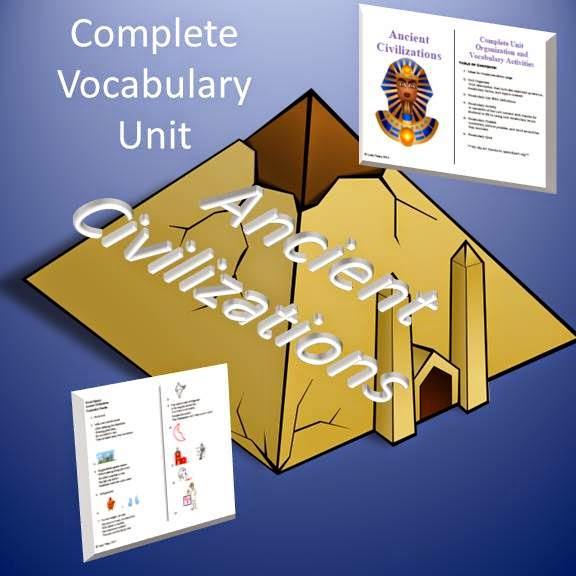 Ancient Civilizations Complete Vocabulary Unit