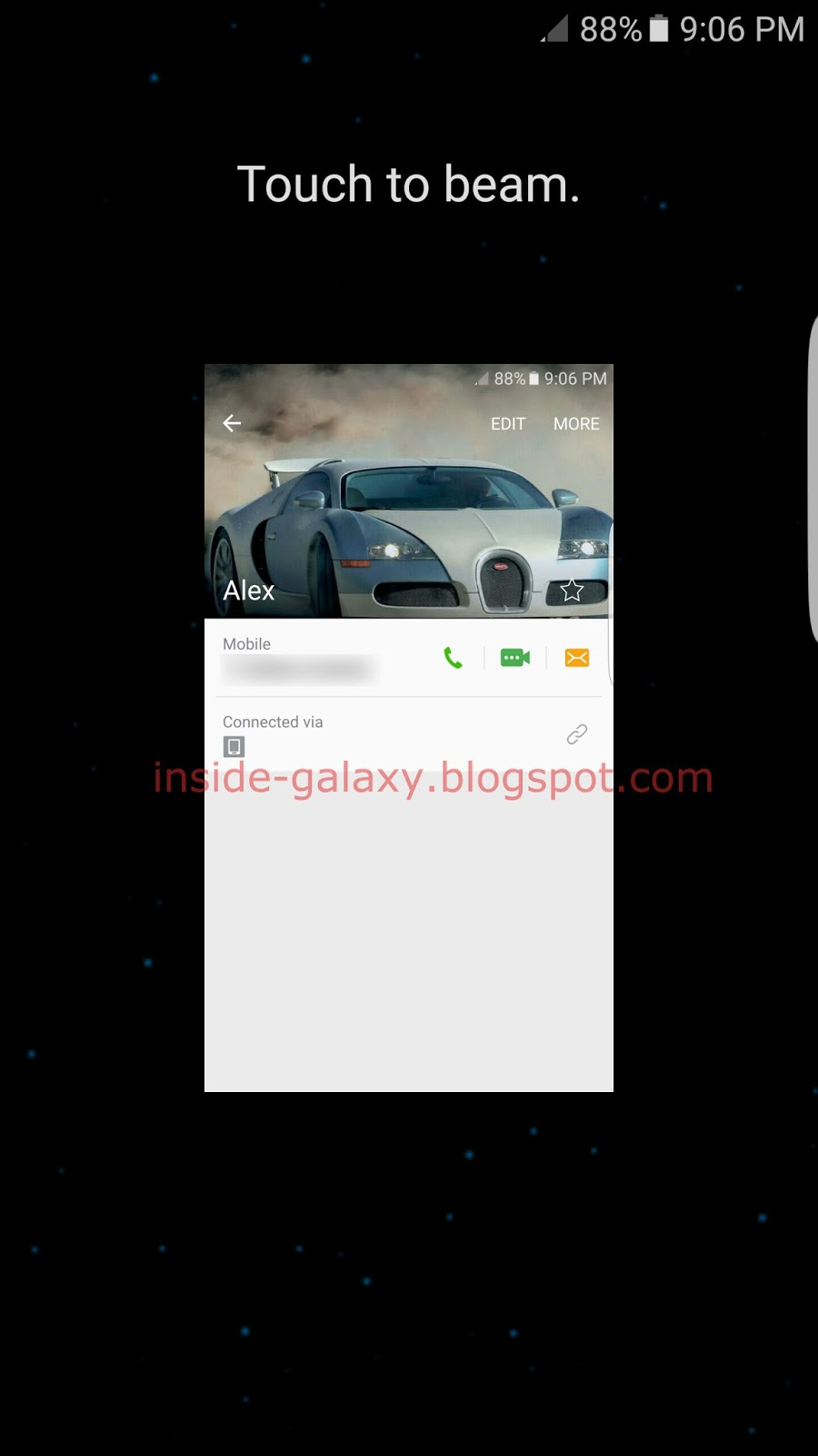 how to turn on s beam on galaxy s7