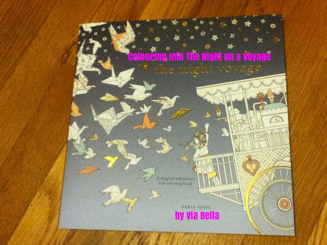 Colouring Into The Night On a Voyage, Daria Song, Blogging for Books, Book Review, Colouring Book Review, adult colouring books, fun