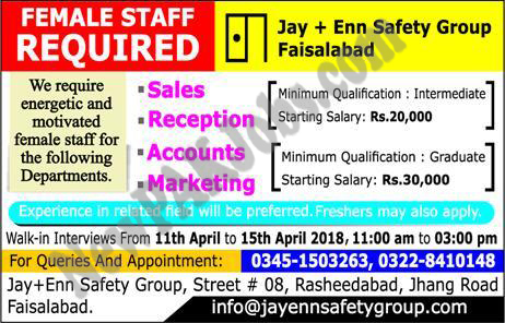 Marketing and Sales, Accounting/ Finance, Receptionist jobs, express Newspaper, Khabrain, Private,