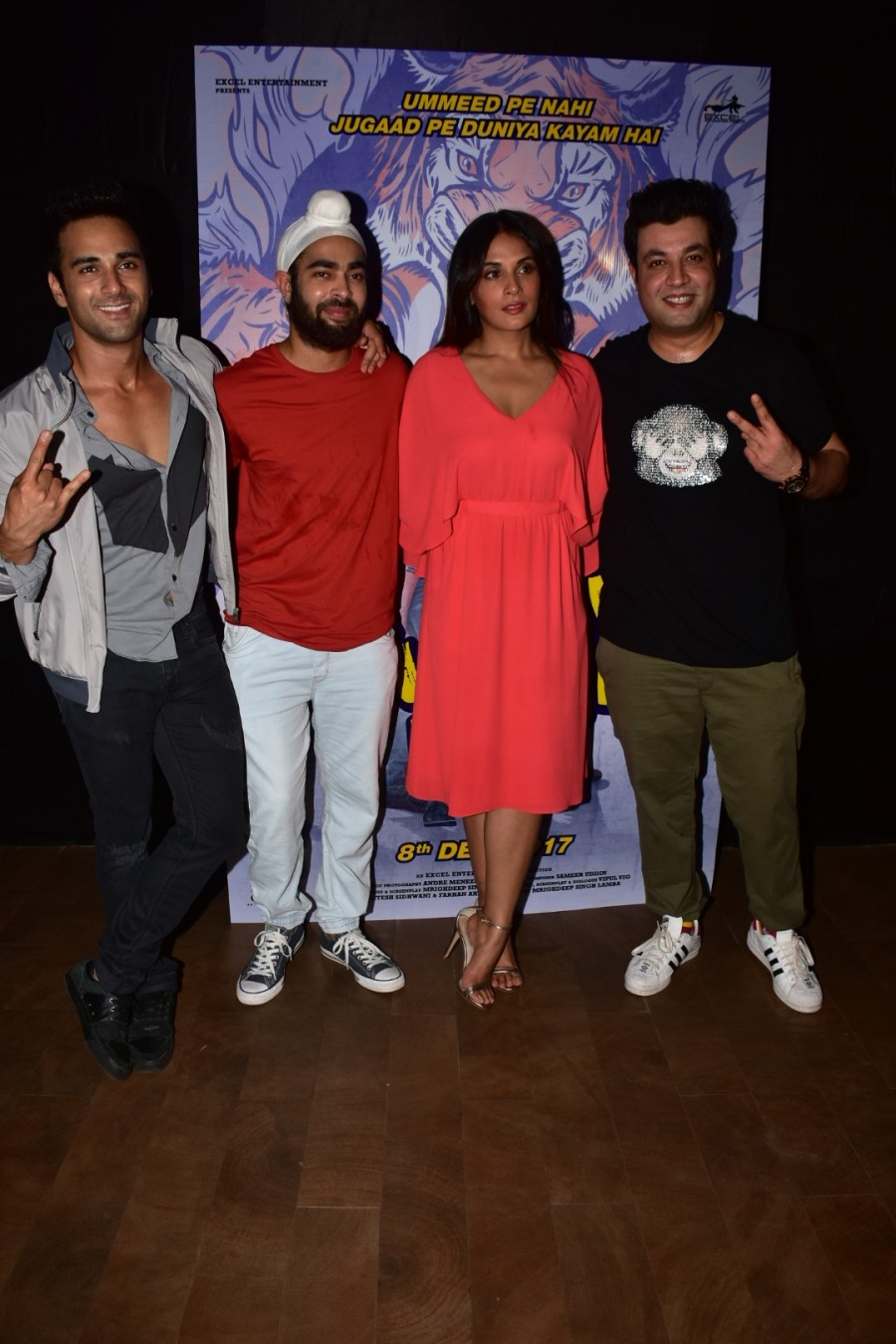 Team 'Fukrey' Returned to Mark The Launch of Their Teaser