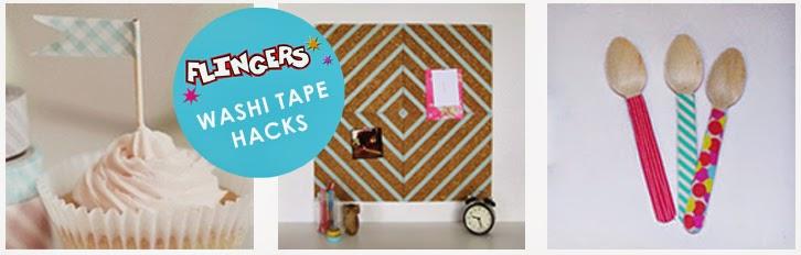 flingers party shop blog washi tape hacks. Black Bedroom Furniture Sets. Home Design Ideas