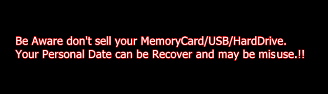 you should not sell your memory devices