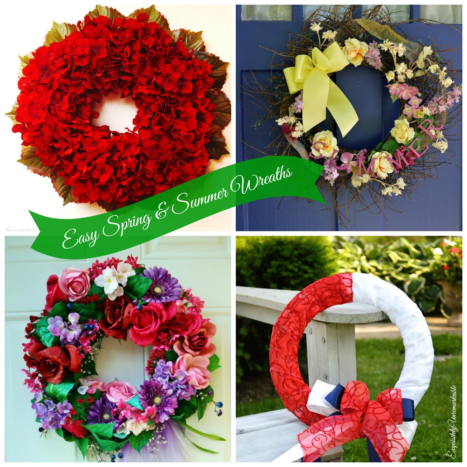 Easy Spring and Summer Wreaths