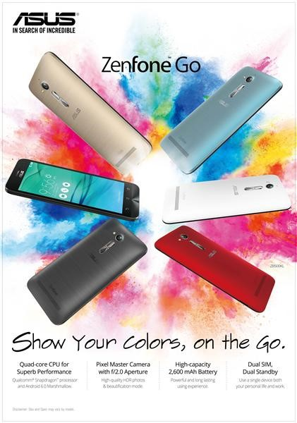 ASUS ZenFone GO ZB500KL, Hadir di Indonesia dengan Android Terbaru 6.0 MarshMallow