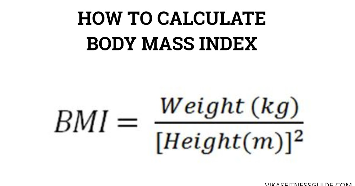 How to calculate Body Mass Index (BMI) easy way - Vikas fitness - bmi calculation formula