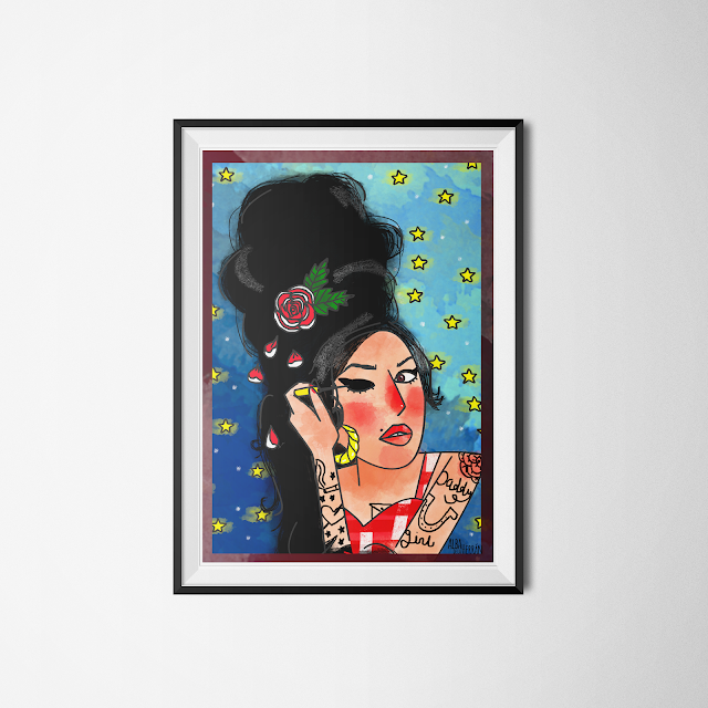 amy winehouse illustration fanart
