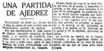 Recorte de El Sol de 14 de junio de 1918