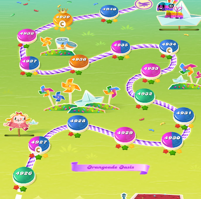 Candy Crush Saga level 4926-4940