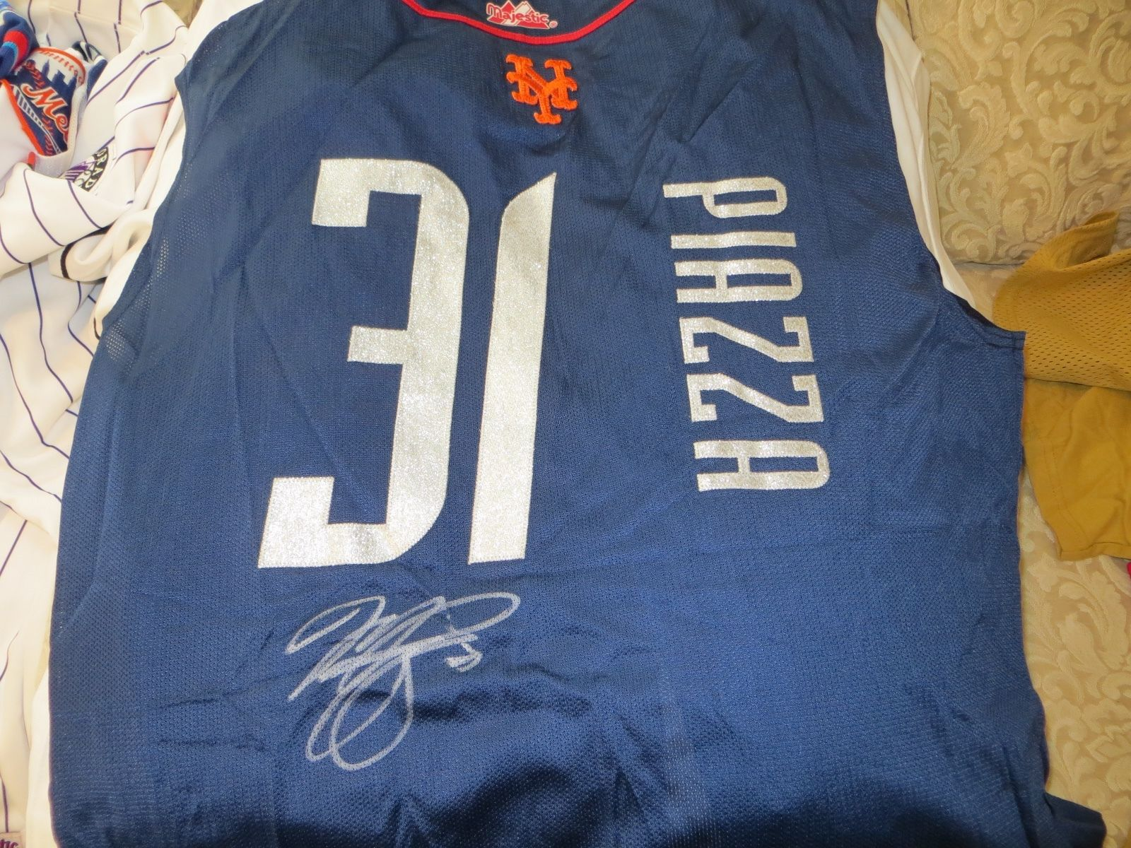46ad6e4776d Mike Piazza Game Used Jersey New York Mets 1999 MLB All Star Game Boston  Red Sox