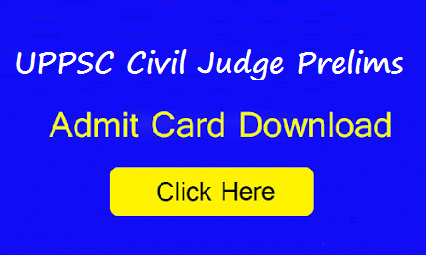 UPPSC Civil Judge Prelims Admit Card 2016