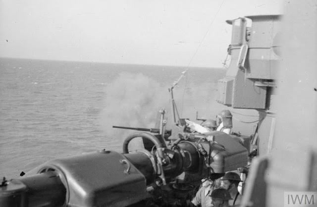 HMS Manchester practice fire, 23 July 1941 worldwartwo.filminspector.com