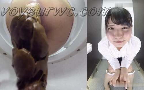 [BY-001] Girls on toilet voyeur cam pooping in close up