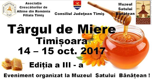 Cel mai dulce târg de miere din Banat va avea loc in perioada 14-15 octombrie la Timisoara