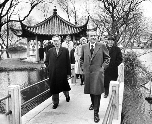 The visit of U.S. president Richard Nixon to China in February 1972