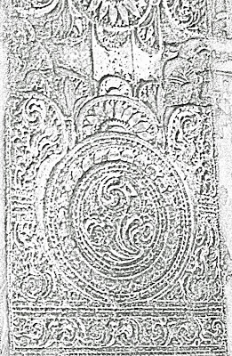 floral motif sketch from ajanta
