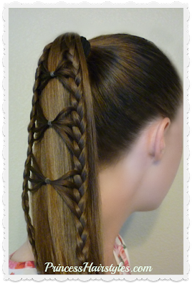 Bow tie braid ponytail. Hair tutorial.