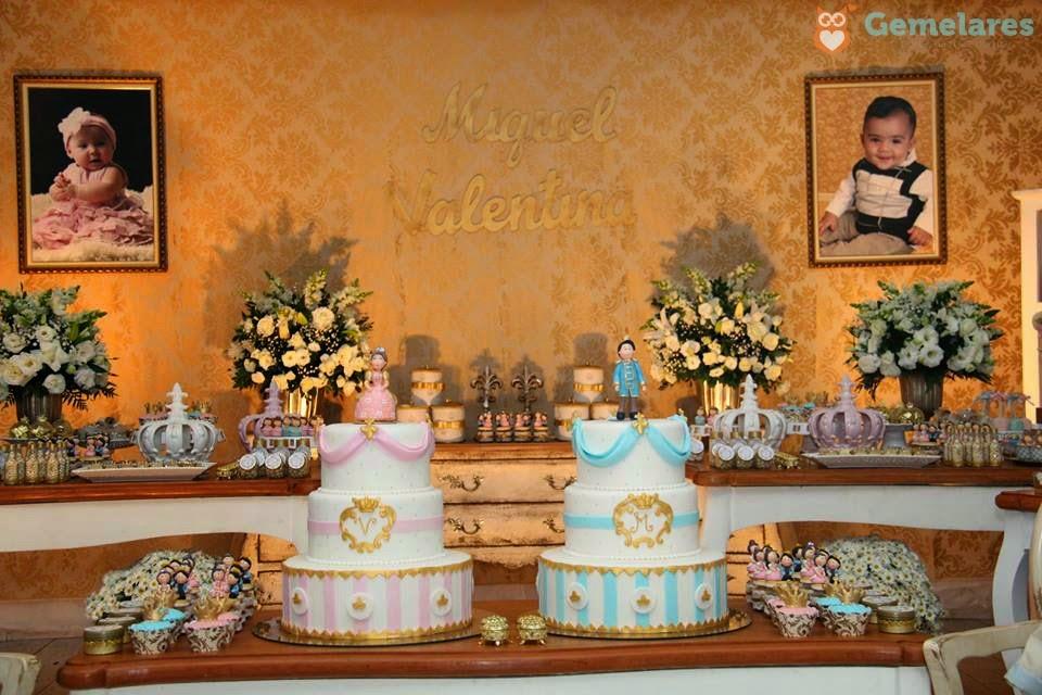 Fabuloso Aniversário Príncipe e Princesa - Gêmeos Miguel e Valentina  KM81