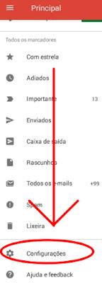 Como configurar senha do Gmail no celular