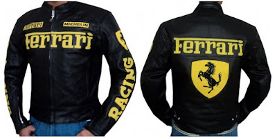 Gambar Jaket Kulit Ferrari F1