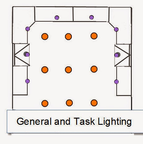 General and Task Recessed Lightin Layout