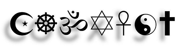 Religious Symbols Spell 'coexist'