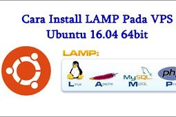 Mekanisme installasi LAMP di VPS Ubuntu 16.04 64bit