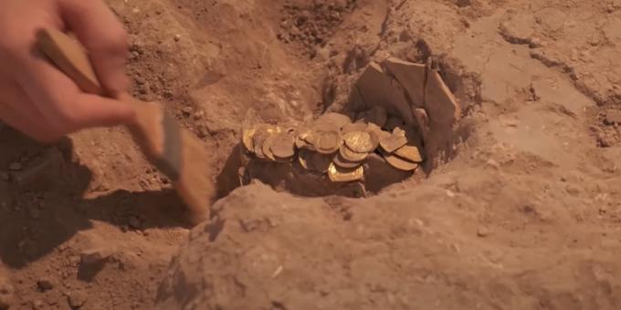 Εφηβοι στο Ισραήλ ανακάλυψαν χρυσά νομίσματα 1.100 ετών -Ενα από αυτά με την εικόνα του αυτοκράτορα του Βυζαντίου Θεόφιλου