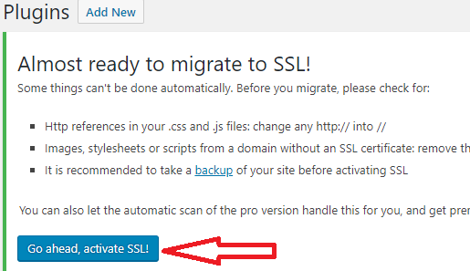 Go ahead, activate SSL