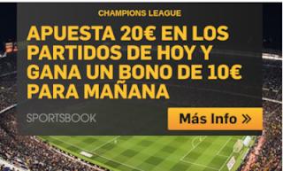 betfair promocion 10 euros champions 6 noviembre